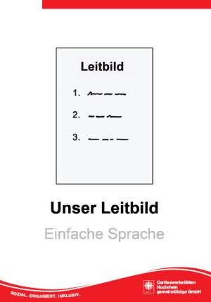 Leitbild in einfacher Sprache