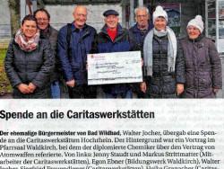 Spende an die Caritaswerkstätten